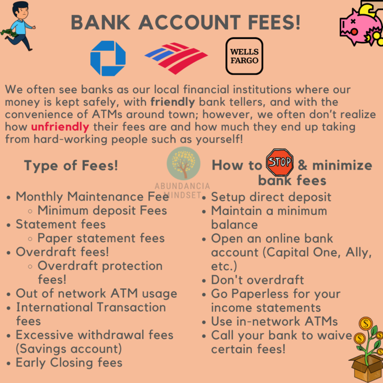 Stop Paying Bank Account Fees!